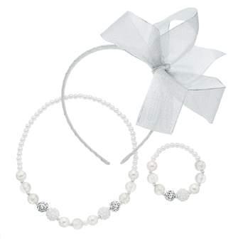 Girls 4-16 Bow Headband, Necklace & Bracelet Set