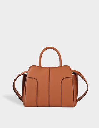 Tod's Sella Small Bag in Brown Grained Calfskin