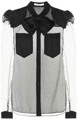 Givenchy Embellished mesh blouse