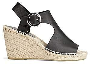 Via Spiga Women's Nolan Cutout Leather Espadrille Wedge Sandals