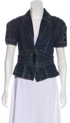Marc Jacobs Denim Notch-Lapel Top