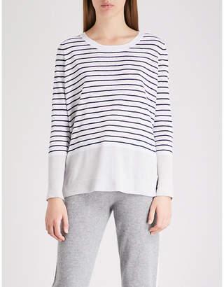 The White Company Striped linen jumper