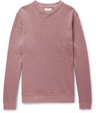 Oliver Spencer Robin Stretch Cotton-Blend Piqué Sweatshirt