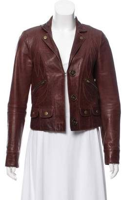 Chloé Leather Notched-Lapel Jacket