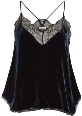 Zadig & Voltaire Christy Camisole with Silk and Lace