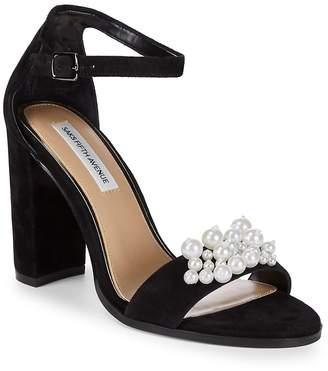 Saks Fifth Avenue Women's Pearl Embellished Sandals