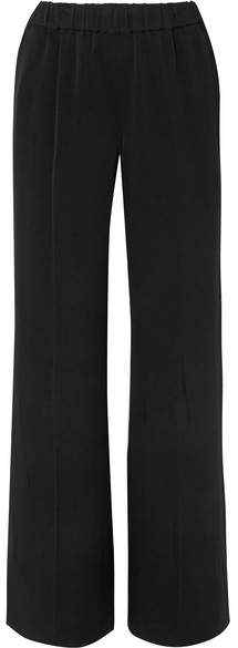 Elizabeth and James - Jones Stretch-cady Wide-leg Pants - Black
