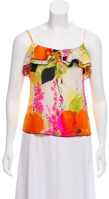 Trina Turk Silk Patterned Top
