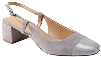 Banana Republic Low Block-Heel Slingback Pump