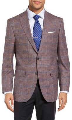 Men's David Donahue Connor Classic Fit Plaid Wool Sport Coat $595 thestylecure.com