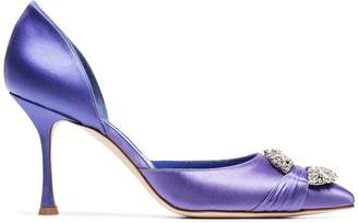 Manolo Blahnik Maidugors 90 Satin Pumps