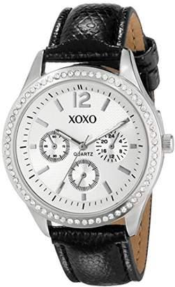 XOXO Women's XO3179 Dial Black Lizard Strap Watch