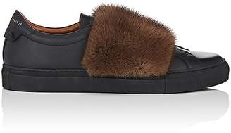 Givenchy Men's Urban Street Leather & Fur Sneakers