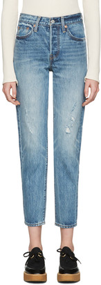 Levi's Blue Wedgie Fit Jeans $150 thestylecure.com