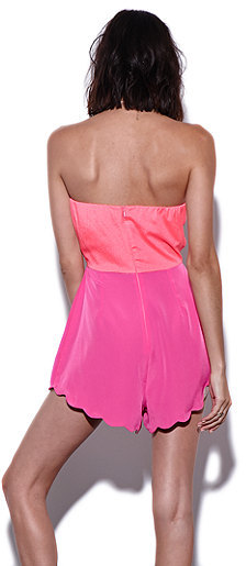 Naven Scalloped Cutout Playsuit Romper