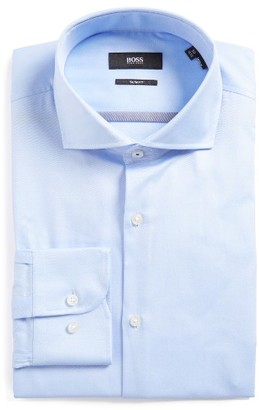 Men's Boss Jerrin Slim Fit Solid Dress Shirt $165 thestylecure.com