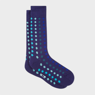 Men's Navy Graduated Polka Dot Socks $30 thestylecure.com