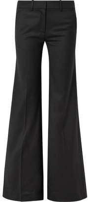 Nili Lotan Irene Wool-twill Wide-leg Pants - Black