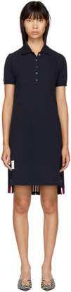 Thom Browne Navy A-Line Polo Dress