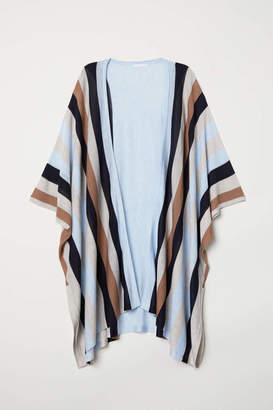 H&M Fine-knit Cardigan - Light blue/striped - Women