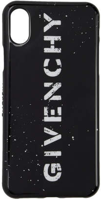 Givenchy Black Rubber iPhone X Case