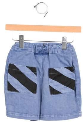 Bobo Choses Girls' Denim Pleated Skirt