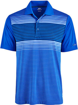 Greg Norman Attack Life by Men's Ombre Stripe Performance Polo