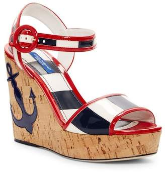 Dolce & Gabbana Nautical Platform Wedge Sandal