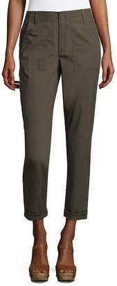 Liz Claiborne Straight Fit Poplin Cargo Pants