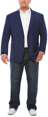 Jf J.Ferrar JF  Dark Blue Texture Jacket-Big and Tall