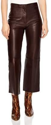 Sandro Boreales Leather Crop Pants