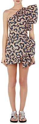 Isabel Marant Women's Lavern Cotton-Linen One-Shoulder Minidress $955 thestylecure.com