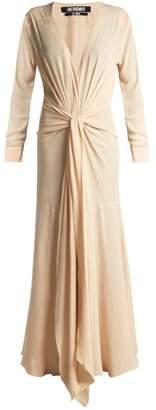 Jacquemus Viavelez Knotted Crepe Maxi Dress - Womens - Beige
