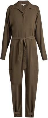 HELMUT LANG Patch pocket cotton jumpsuit $725 thestylecure.com