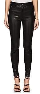 Rag & Bone Women's High Rise Skinny Leather Jeans - Black