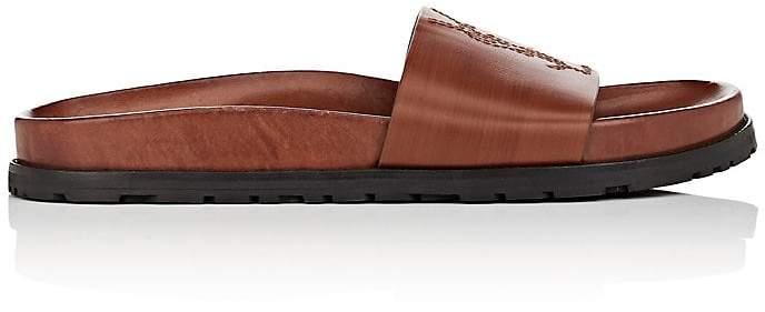 Saint Laurent Women's Jimmy Leather Slide Sandals