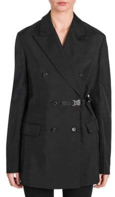 Prada Technical Twill Double-Breasted Jacket