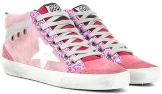 Golden Goose Mid Star pink suede sneakers