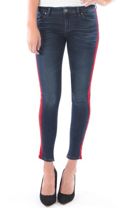 KUT from the Kloth Connie Side Stripe Ankle Skinny Jeans