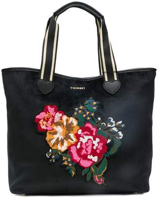 Twin-Set floral tote bag