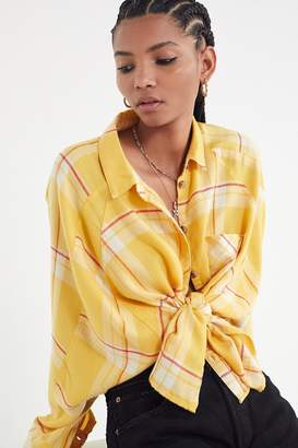 Urban Outfitters Brendan Drapey Flannel Button-Down Shirt
