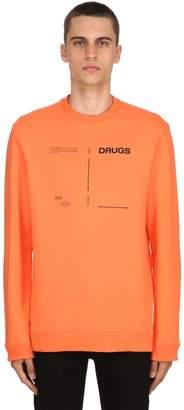 Raf Simons Drugs Printed Cotton Jersey Sweatshirt