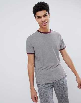 Brave Soul Stripe Ringer T-Shirt