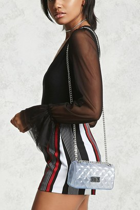 FOREVER 21+ Clear Quilted Crossbody $19.90 thestylecure.com