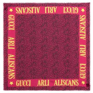 Gucci Printed modal and silk scarf