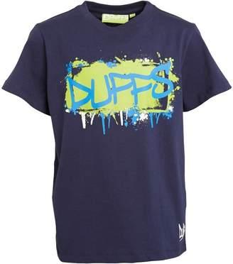 DuFFS Boys Graffiti T-Shirt Navy