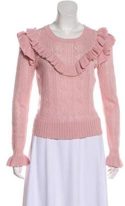 LoveShackFancy Ruffled Cropped Sweater w/ Tags