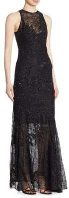Jonathan Simkhai Collection Sequin Lace Gown