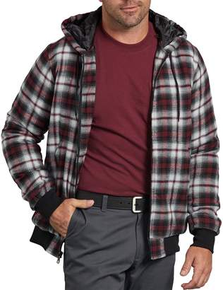 Dickies Men's X-Series Modern-Fit Plaid Hooded Bomber Shirt Jacket
