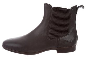 UGG Australia Leather Round-Toe Ankle Boots $125 thestylecure.com